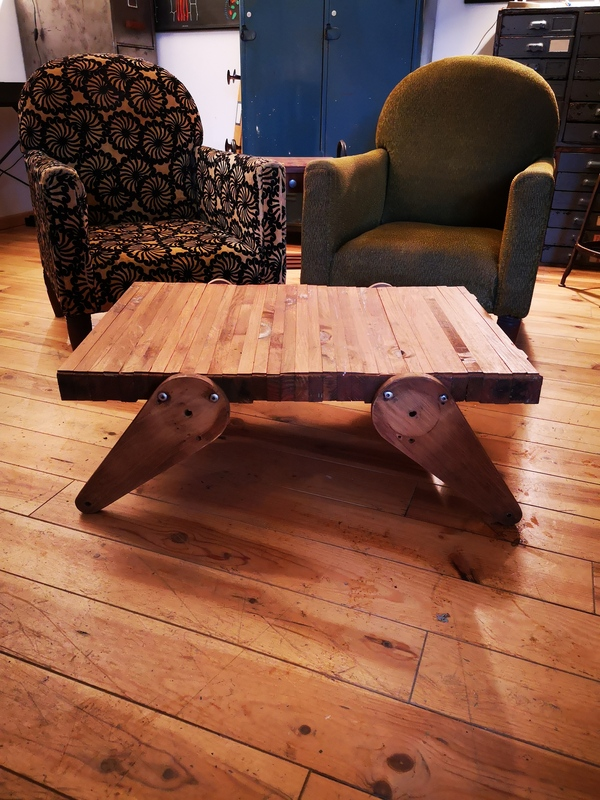 Table basse upcycling design